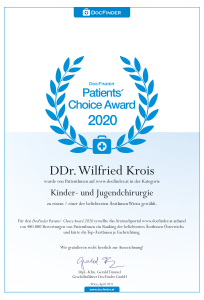Docfinder's Patient Choice Award 2020